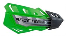 Racetech Green FLX Standard Handguards With Mount Kit Motocross Enduro